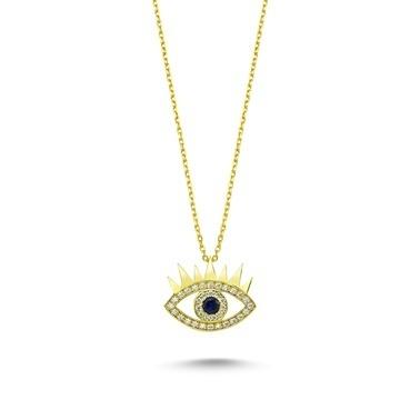 Online Takı Gümüş Göz Kolye Renkli